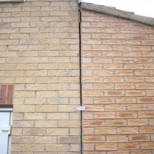 exterior crack on house with subsidence issues