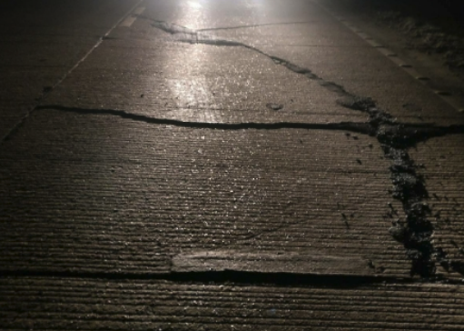 A14 cracked roads