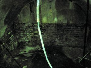 One of the vaults, formerly used as a coal shed