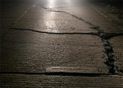 A14 cracked roads