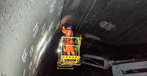 Drilling in tunnel